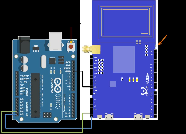 ameba arduino   rtl8195   rtl8710  i2c  u2013 communicate with