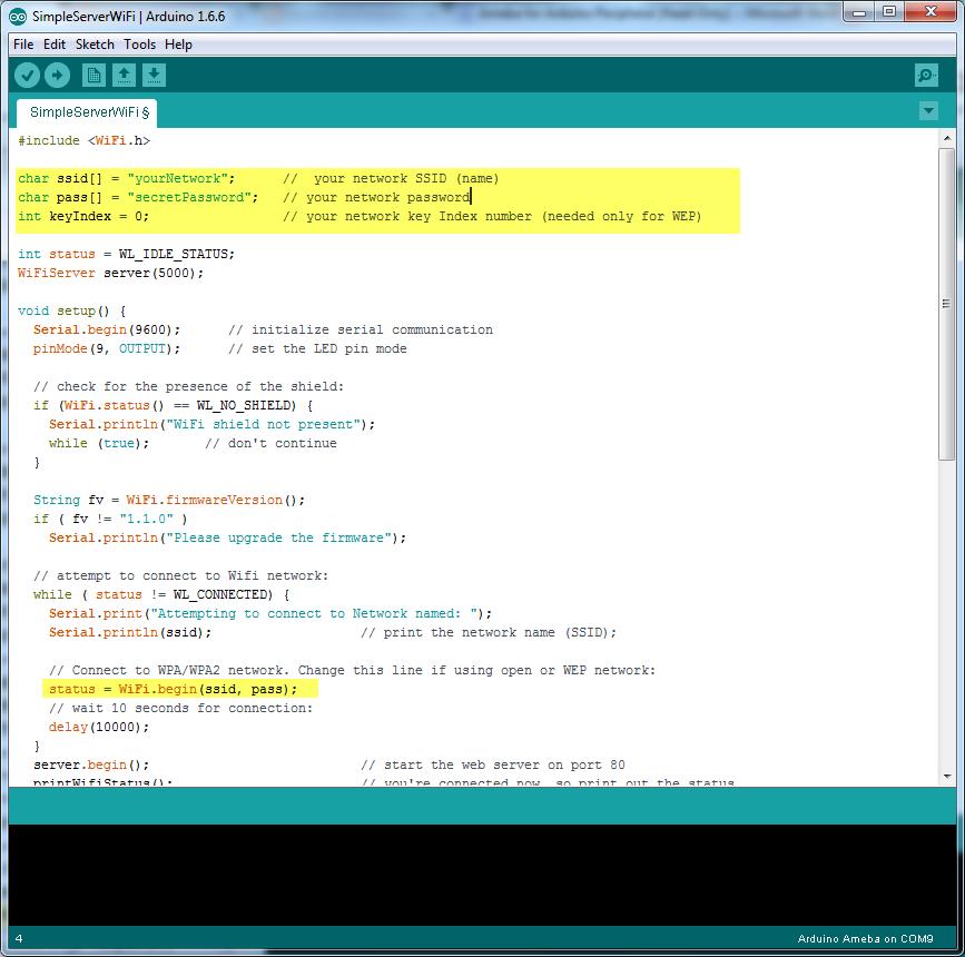 Ameba Arduino: [RTL8195] [RTL8710] Use Ameba as Server to
