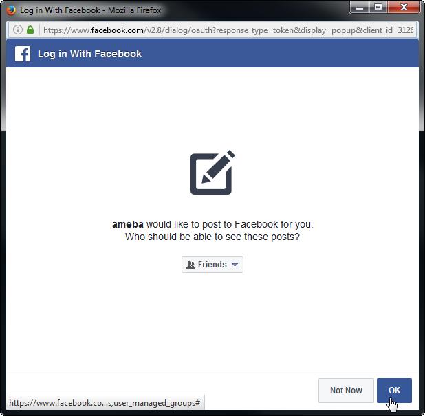 Ameba Arduino: [RTL8195] Let Ameba post articles on Facebook