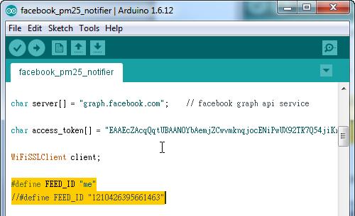 Ameba Arduino: [RTL8195] Let Ameba post articles on Facebook wall